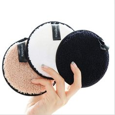 Makeup Remover Pads Reusable,Washable Face Cleaning Cloths,Facial Make Up Removal Wipes,Soft Cotton Rounds Towelettes, Black, White, Coffee color-3 pcs,4.5'' Best Makeup Remover, Makeup Remover Pads, Things To Buy, Girly Things, Face Cleaning, Cleaning Cloths, Makeup Room Decor, Make Up Remover, Coffee Colour