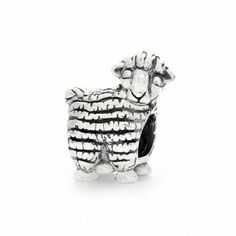 Lamb Sheep Animal Pink October Birthstone Spacer Charm for European Bracelets Fashion Jewelry for Women Man