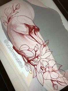 Swan tattoo neotraditional @lucasferreiratattoo
