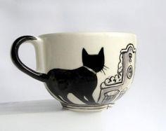Taza de gato hecha por un artista holandés