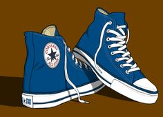 Converse All Stars Trainers illustration   Flickr - Photo Sharing!
