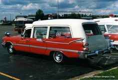 1959 Red Dodge ambulance