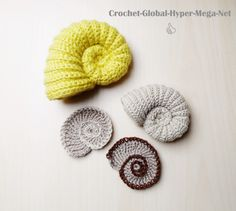 [UCN # Los amonitas de Cap Blanc-Nez - Pau Paul, crochet y bordado Art Au Crochet, Crochet Fish, Crochet Motifs, Freeform Crochet, Irish Crochet, Knit Crochet, Crochet Toys, Yarn Projects, Crochet Projects