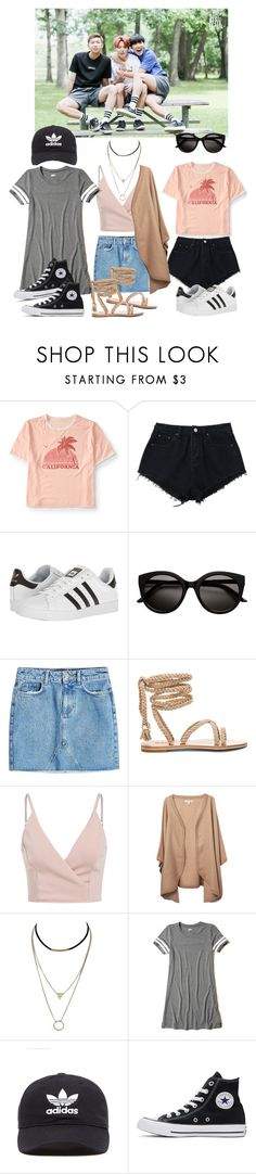 """""""Hanging out at the park"""" by my-kpop-dream ❤ liked on Polyvore featuring Aéropostale, adidas, Anine Bing, Hollister Co., adidas Originals and Converse"""