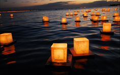 Lantern Floating Ceremony in Hawaii…this event makes me cry. I would love to do it someday.