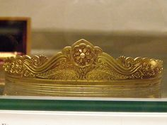 Etruscan-style gold diadem, Marked JB for Josef Bacher, Vienna, about 1878, Bacher was the leading follower of Castellani in Austria.