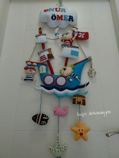 pirate ship wall hanger