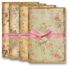 I'm in LOVE~PAPER KITS Collection - Vintage Papers digital collage sheets, printables, scrapbooking supplies