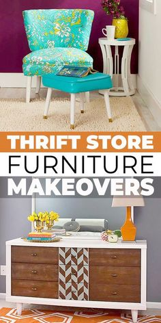 It is amazing, what cool furniture and home decor you can create by repurposing and reusing thrift store or flea market finds! Check out these great ideas! #thriftstore #thriftstoremakovers #fleamarketflips #repurposing #repurposingfurniture #reuse #diyhomedecor #homedecorideas #furnitureflips Diy Furniture Hacks, Thrift Store Furniture, Repurposed Furniture, Furniture Makeover, Cool Furniture, Diy Shops, Diy Home Repair, Cool Diy Projects, Decorating On A Budget