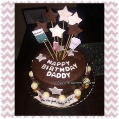 Double chocolate fondant covered birthday cake