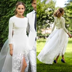 olivia palermo photos photos olivia palermo takes a stylish stroll. olivia palermo photos olivia palermo seen in a pretty plain white skirt and polka dotted shirt in the meatpacking district in new y. Celebrity Wedding Dresses, Wedding Dress Styles, Designer Wedding Dresses, Wedding Attire, Celebrity Weddings, Olivia Palermo Wedding, Bridal Gowns, Wedding Gowns, Tulle Skirt Wedding Dress