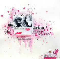Scrap Plaisir : le scrap de shannon91: Combo girly en rose et parme : Girls