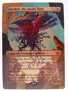 Emrakul, the Aeons Torn MTG Magic Altered Art Custom Hand Painted Pimp OOAK OOP #MTG #MTGALTERED
