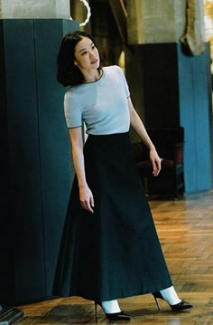 Aoi Yu (on hiatus) I Love Fashion, Fashion Beauty, Girl Fashion, Womens Fashion, Japanese Beauty, Japanese Girl, Uniqlo Looks, Casual Work Outfits, Cute Outfits