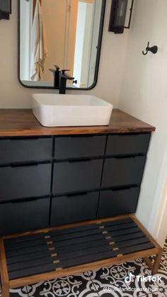 Room Design Bedroom, Home Room Design, Bathroom Interior Design, Interior Decorating, Diy Furniture Projects, Furniture Design, Diy Bedroom Decor For Teens, Diy Home Crafts, Small Bathroom