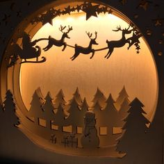 New Year gift - Christmas gifts - Christmas decorations - Christmas deer - Shadow box - Christmas toys - Wooden night light - Light Box-Lamp Christmas Deer, Christmas Toys, Hot Air Ballon Nursery, Ramadan Decorations, Christmas Decorations, Batman Gifts, Christmas Shadow Boxes, Kids Lamps, Arte Country