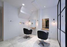 Salon Lighting, Nail Logo, Store Design, Hair Cuts, Colours, Chair, Furniture, Beauty, Bread