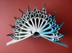 "Book Art Sculpture ""Autumn leaf """