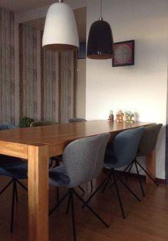 OMG stoel van Zuiver in grijs en 2 x Romi Hanoi