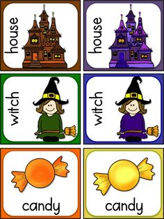 FREE Halloween cards - for memory, matching & writing activities and sorting alphabetically. #Halloween