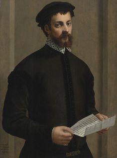 Francesco de' Rossi, called Francesco Salviati   PORTRAIT OF A GENTLEMAN HOLDING A LETTER   Sotheby's