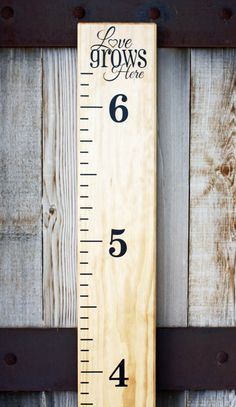 Custom hand painted boy/girl wooden growth ruler by Lavish Olive ...