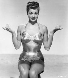 "For those who have looked at the glamour and structure of vintage swimsuits and declared, ""You know you can't actually swim in that, right?"", I have two words... ESTHER WILLIAMS!"