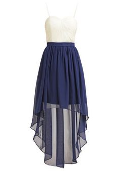 Laona Cocktailkleid / festliches Kleid - light beige/nautical blue - Zalando.de