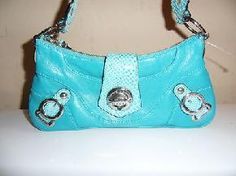 NICE! Turquoise Guess Purse (croc accents)