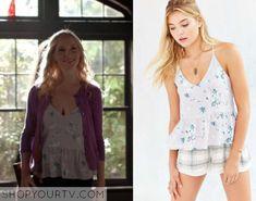 The Vampire Diaries: Season 7 Episode 4 Caroline's Floral Peplum Cami