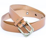 Leather belt for women Isolated on white background
