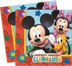 Disney Mickey Mouse Clubhouse 20 Napkins Minnie Pluto Birthday Party Table…