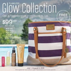I just found out what JULY'S CUSTOMER KUDOS is up and ready for YOU!!!!  Get your GLOW on and keep it in a fabulous FREE tote!!