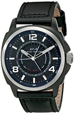 Men's Wrist Watches - AVI8 Mens AV403203 Curtiss Tomahawk Analog Display Japanese Quartz Black Watch >>> You can find more details by visiting the image link.