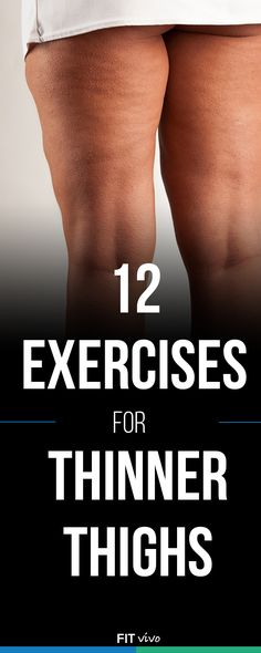 Thigh Workout for Women. Here are the Top 12 exercises and workouts to get those thinner and toned thighs. Work both the inner and outer thigh at home. This helps to lose the fat and cellulite so get back into those skinny jeans fast. The best workouts wi Fitness Workouts, Fitness Motivation, Sport Fitness, Fitness Diet, Fun Workouts, Fitness Models, Health Fitness, Fitness Weightloss, Workouts For Women