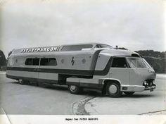 "atomic-flash: "" The Pathe-Marconi Super Car - Panhard IE 45 HL base with Antem bodywork designed by the brilliant French innovator, Philippe Charbonneaux, "" Rv Motorhomes, Gmc Motorhome, Vintage Rv, Vintage Trailers, Vintage Campers, Camper Caravan, Camper Van, Automobile, Commercial Vehicle"