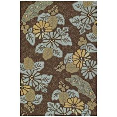 Kaleen Home and Porch Morning Glory Robin's Egg 3 ft. x 5 ft. Indoor/Outdoor Area Rug - 2018-61 3x5 - The Home Depot