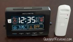 """There are so many features that I love..."" said the Queen of Reviews about the AcuRite Atomic Clock with Dual Alarm, USB Charger and Temperature."