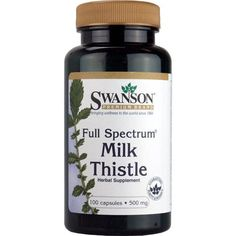 Swanson Premium Full Spectrum Milk Thistle (500mg) - 100 Capsules - Astronutrition