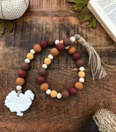 Turkey Gobble Fall Thanksgiving Beaded Wood Farmhouse Decoration Source by etsy Thanksgiving Crafts, Thanksgiving Decorations, Fall Crafts, Thanksgiving Table, Turkey Decorations, Wood Bead Garland, Beaded Garland, Bead Crafts, Diy Crafts
