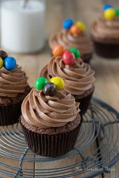 Cupcakes de chocolate y mantequilla de cacahuete