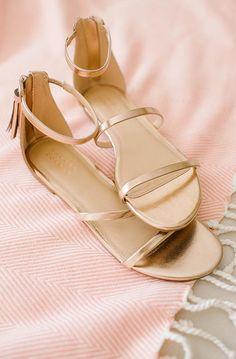 LC Lauren Conrad Shimmer Sandals