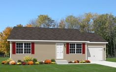 View our numerous modular home floor plans and elevations, like this Chester 1-Story.