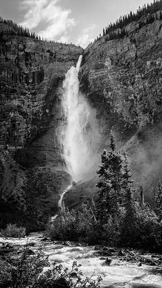Takakkaw Falls British Columbia by Joan Carroll