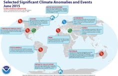 June 2015 Selected Climate Anomalies and Events Map
