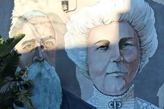 John and Annie Bidwell: Mural by John Pugh Painted in Chico, California