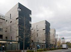 Void Space/Hinged Space Housing, Fukuoka, Japan. Steven Holl