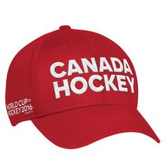 adidas Canada Hockey Red World Cup of Hockey 2016 Locker Room Flex Hat