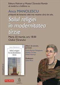 Volumul Stilul religiei in modernitatea tirzie de Anca Manolescu va fi lansat saptamina viitoare in capitala - Cultura - HotNews.ro Ecards, Memes, Modern, E Cards, Trendy Tree, Meme