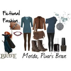 """Merida, Pixar's Brave"" by fictional-fashion on Polyvore"